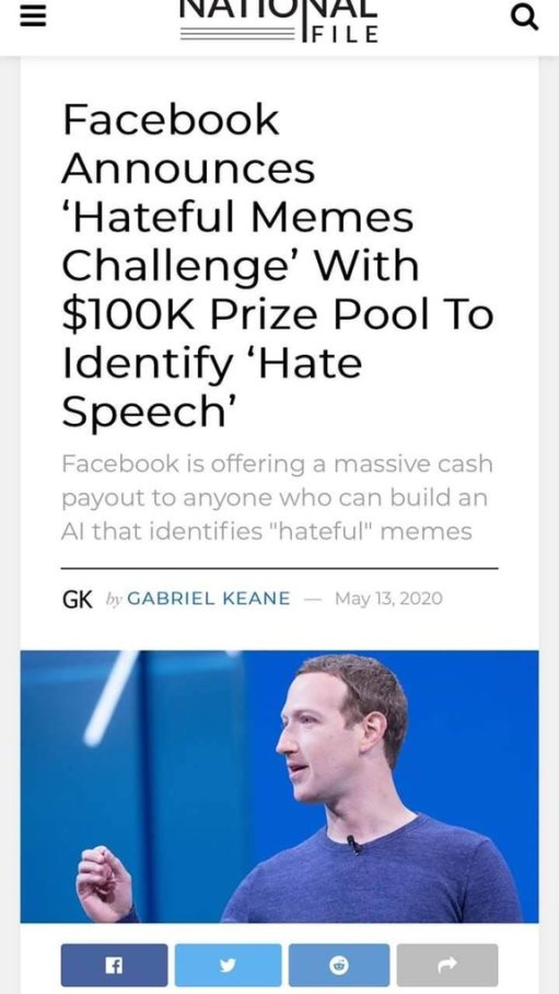 Facebook hateful memes