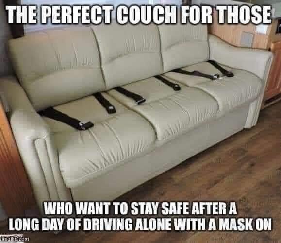 corona mask couch
