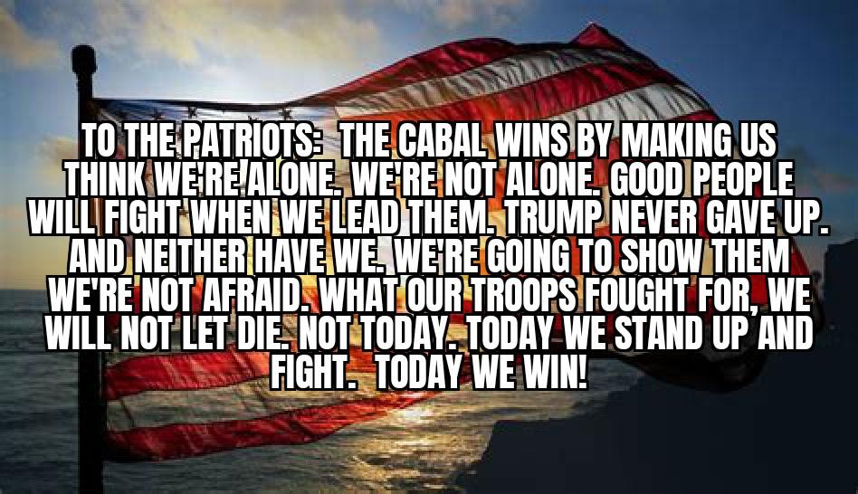 message to patriots