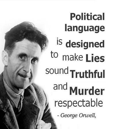 orwell political speech