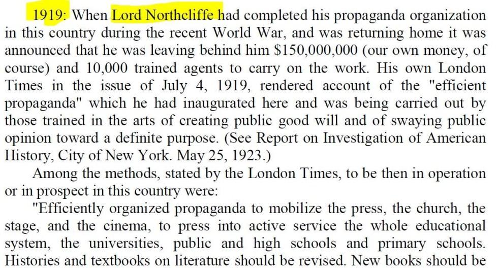 propaganda northcliffe