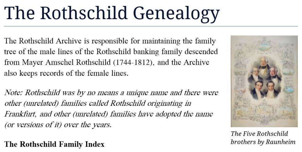 rothschild genealogy site