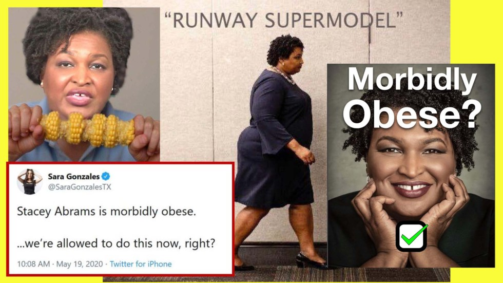 stacey abrams obese