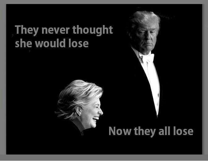 trump clinton lose