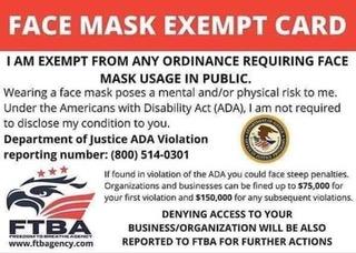 FaceMaskExemptCard