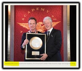 Sting, Bill Clinton