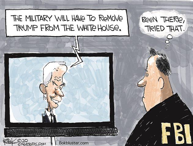 biden remove trump with military