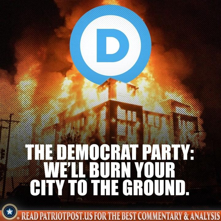democrat antifa city burn