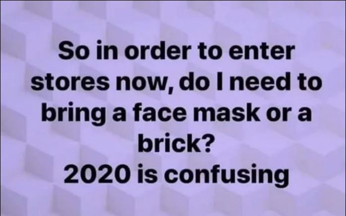 face mask or brick