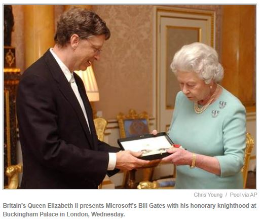 gates and queen knighthood