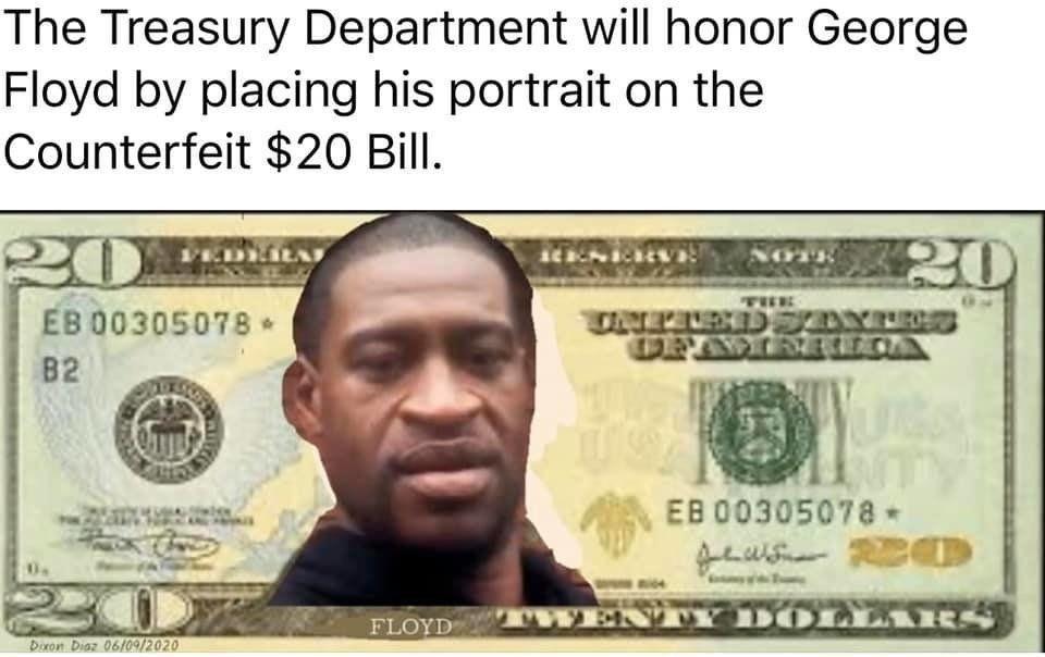 george floyd 20 dollar