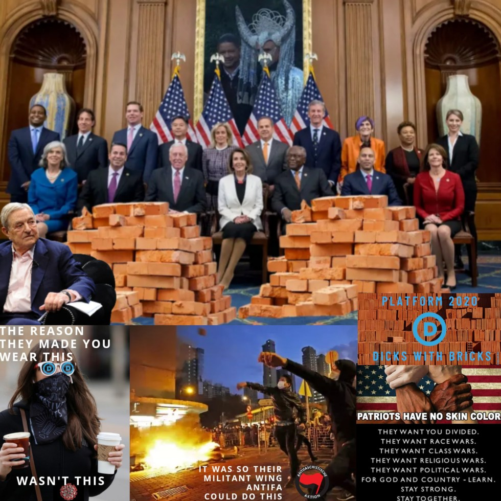 george soros pelosi democrats bricks