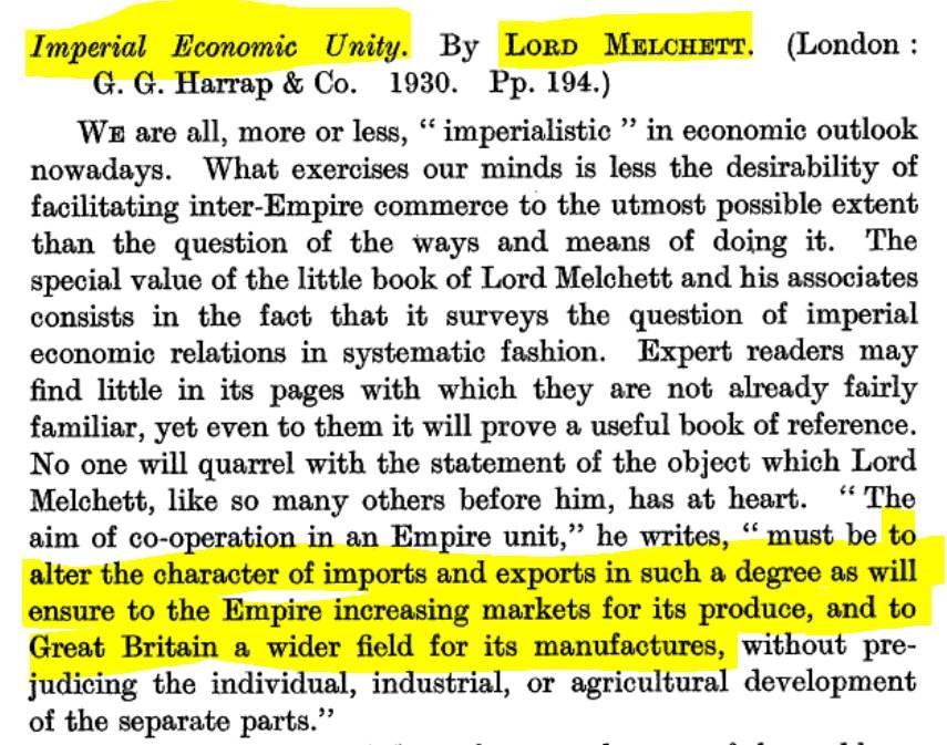 imperial economic unity