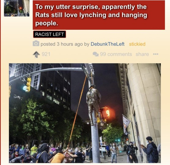 left antifa hanging