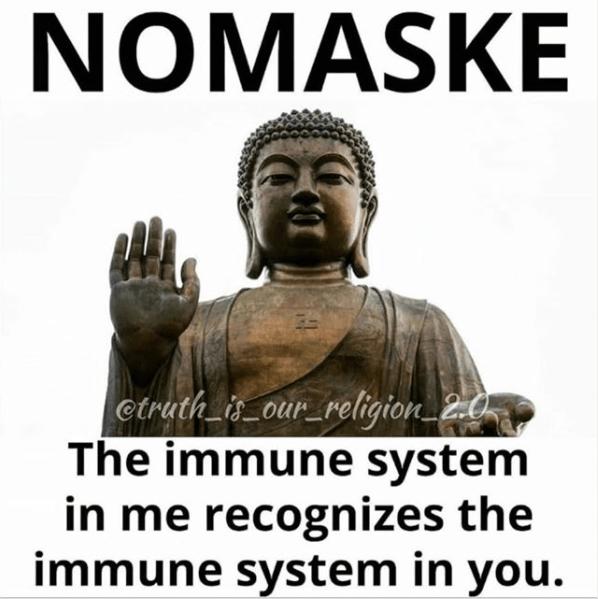 no mask buddha