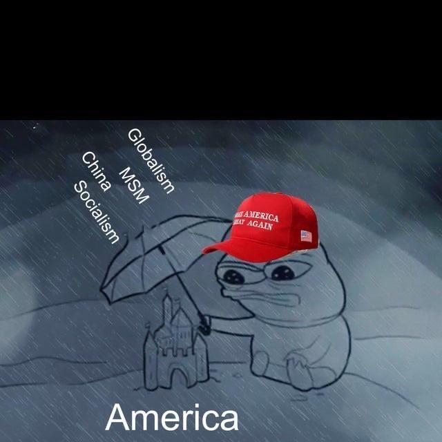 pepe maga rain globalism