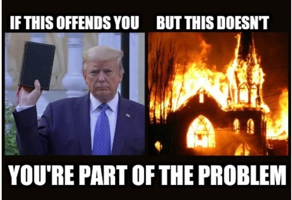 trump bible riots