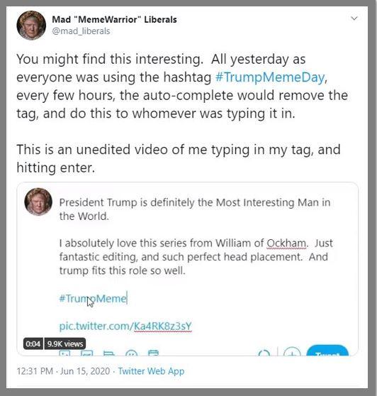 trump meme hashtag