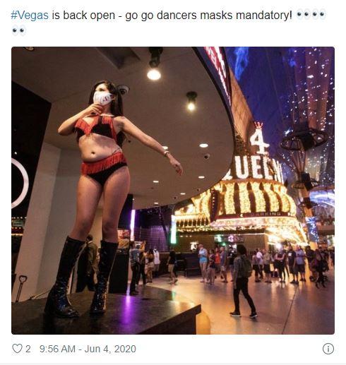 vegas dancer mask