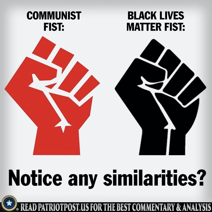 blm communist fist