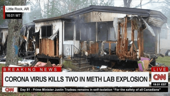 corona virus meth explosion