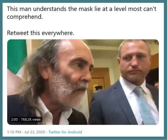 face mask lie