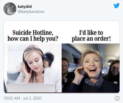 hillary clinton suicide