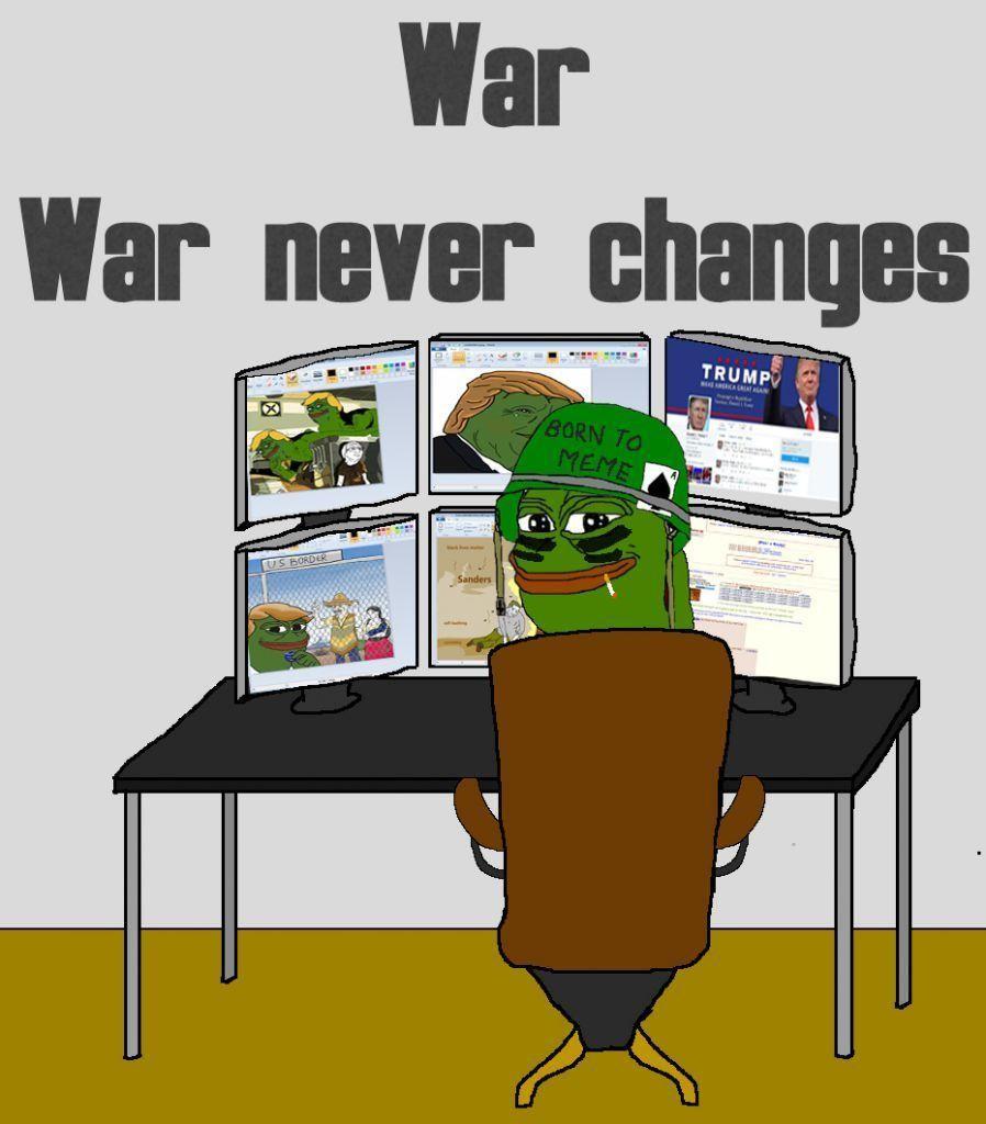 information keyboard warrior pepe meme