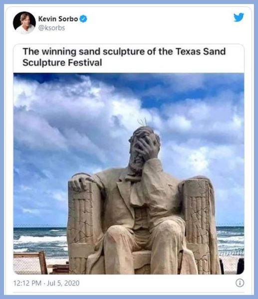 lincoln sand sculpture