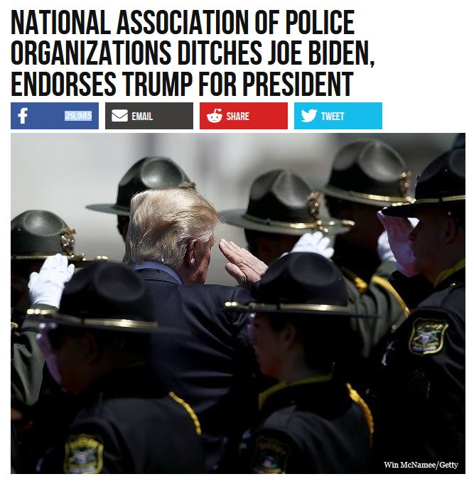 police support trump