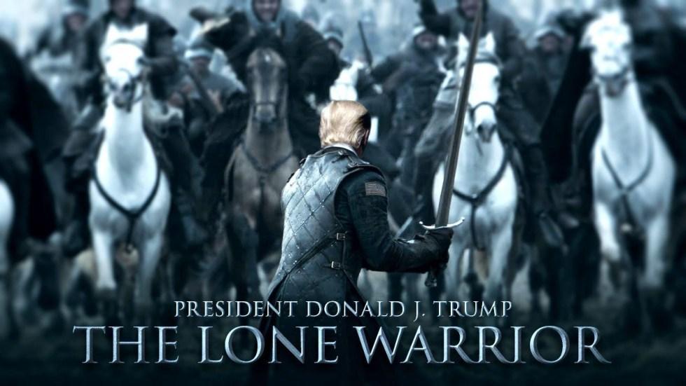 trump lone warrior