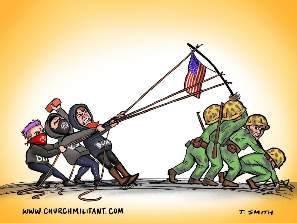 antifa blm iwo jima
