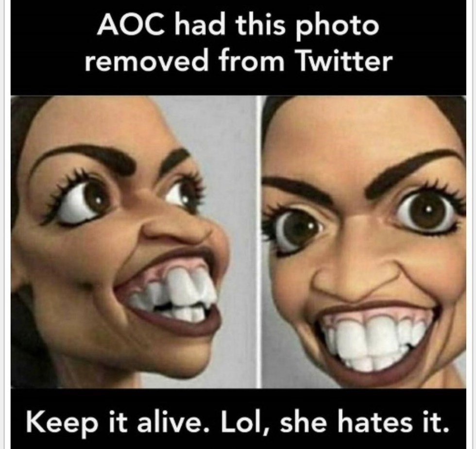 aoc democrat teeth