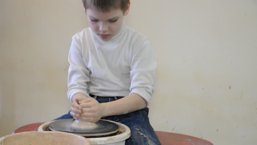 child clay modelling