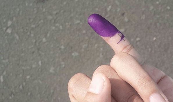 purple finger