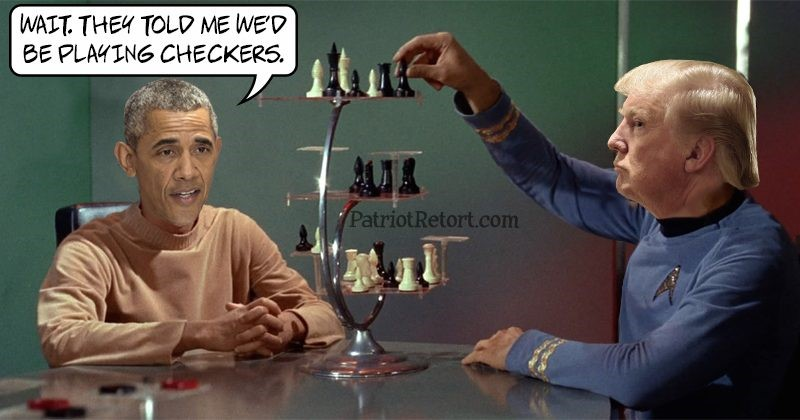 trump obama chess