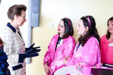 Megan and Elizabeth O'Shea of Science Rocks with HRH The Princess Royal