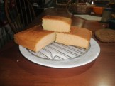 My first pound cake which I baked for my sister's birthday.