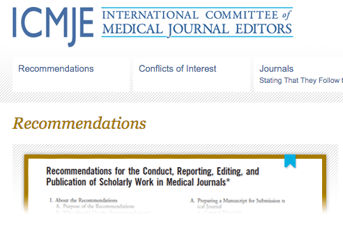 ICMJE guidelines