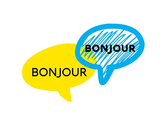 """Illustration bulles """"bonjour"""""""