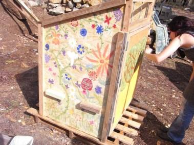 Séchoir solaire - peinture