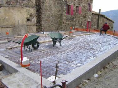 Restauration mairie - dalle