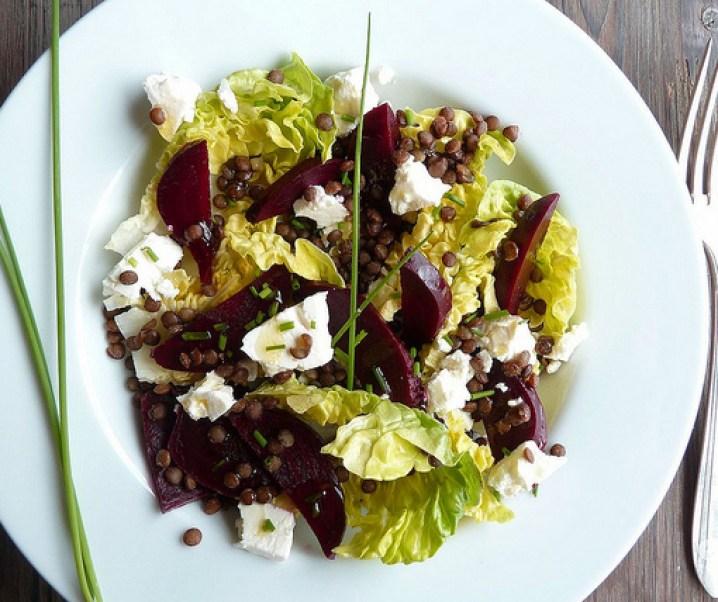 Beet Salad, Sucrine, linzen en feta