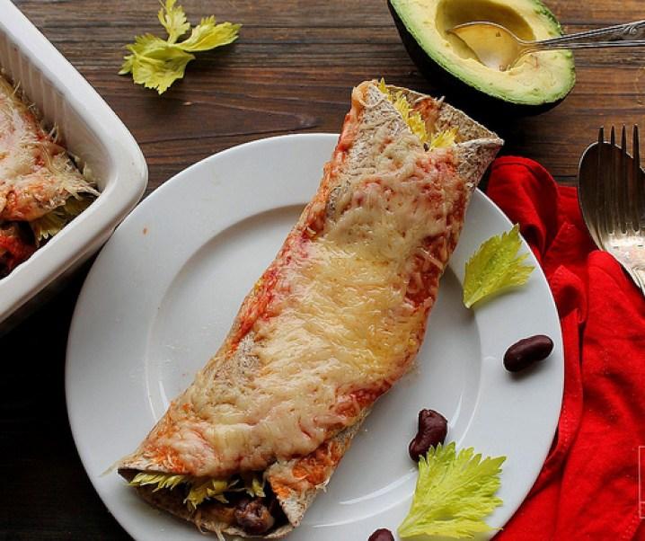 Enchiladas au chili «sin» carne {végétarien}