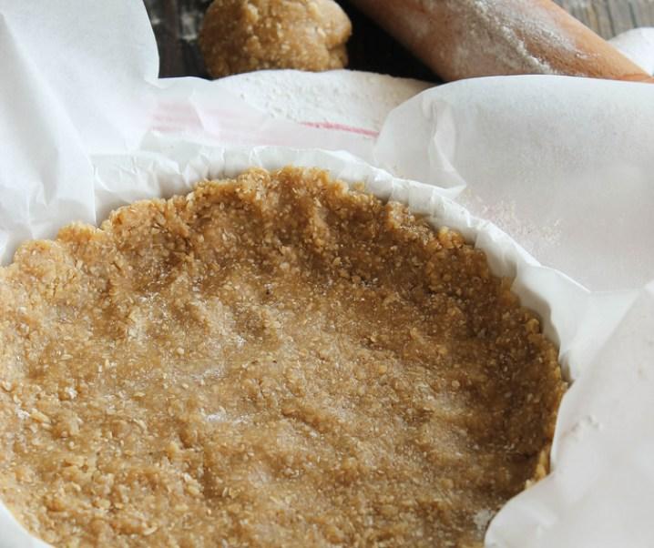 Pâte à tarte au son {vegan}