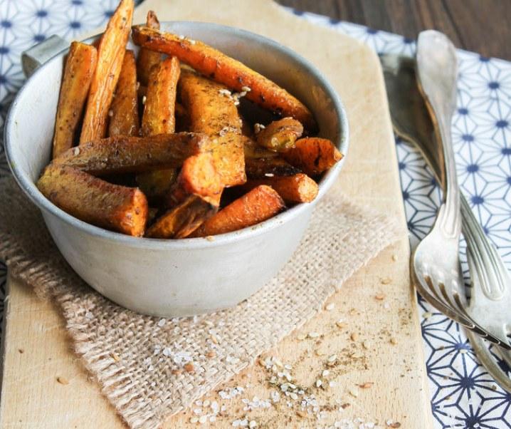 Frites de carotte au zaatar