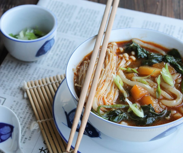 Soupe de nouilles udon aux légumes {vegan}