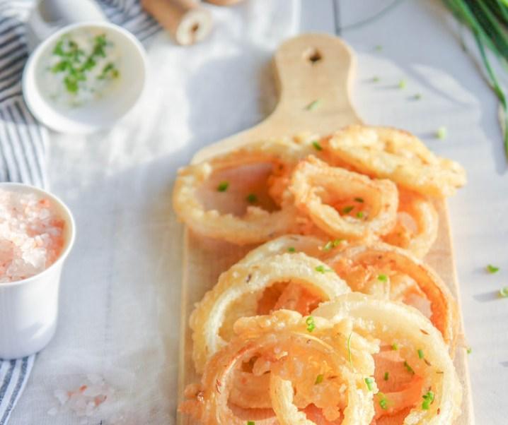 Onion rings {sans gluten – sans lait}