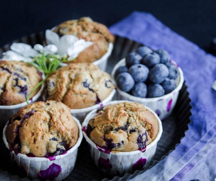 Muffins aux myrtilles {sin leche}