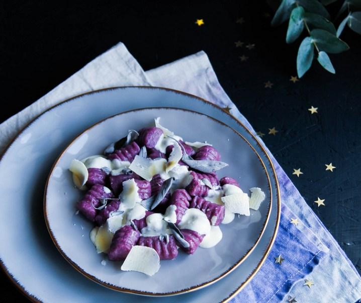 Gnocchis de patate douce sauce parmesan et sauge {libre de gluten}